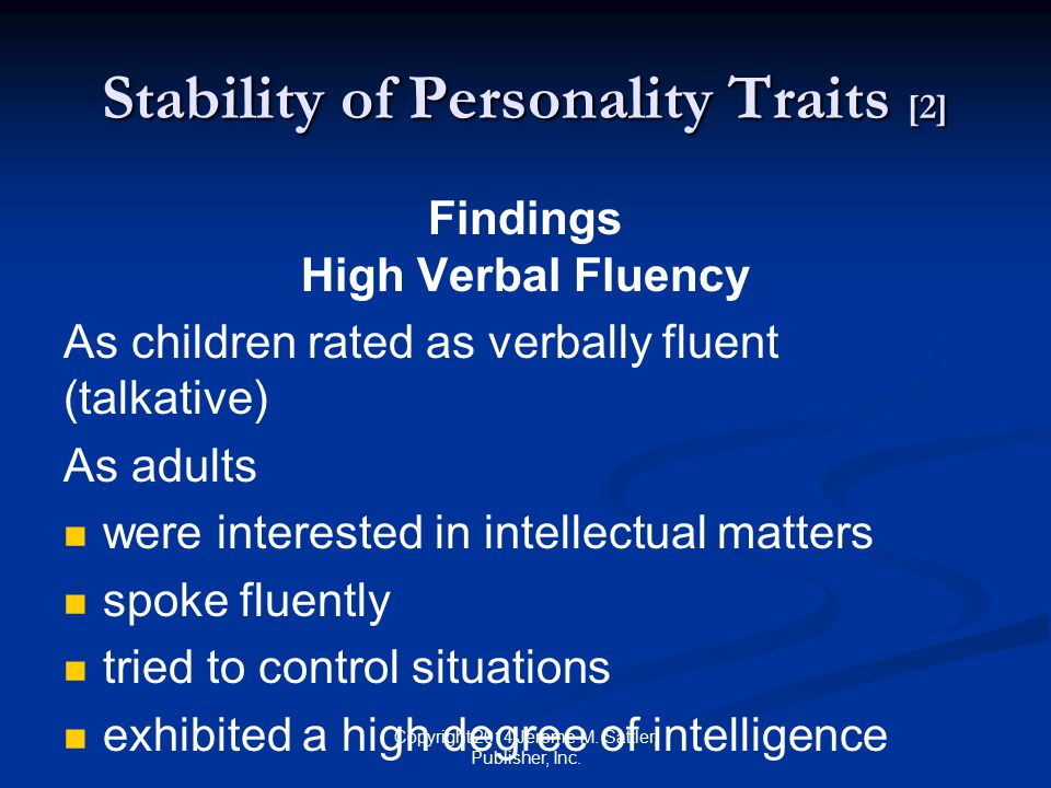 Stability of Personality Traits [2]